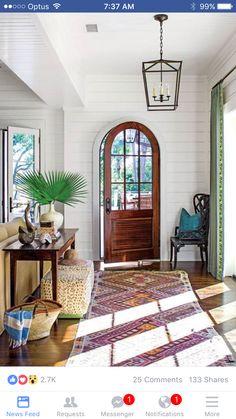 Slide living room furniture back towards entry if LR doorway is wide enough.