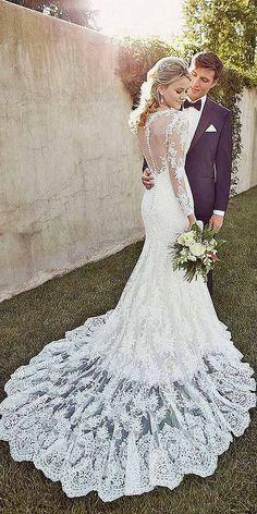 18 Mermaid Wedding Dresses From Top World Designers ❤ See more: http://www.weddingforward.com/mermaid-wedding-dresses/ #weddings #mermaiddress: