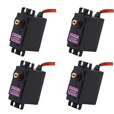 4x Pcs JDEAL High Torque MG996R Metal Gear Digital Servo for Futaba JR RC Car Boat Helicopter *** You can get more details by clicking on the image.Note:It is affiliate link to Amazon.