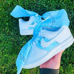 Sky Blue Bandana Air Force 1 All custom sneakers are made to order, please allow weeks for your item to be shipped. Shipping time might be less or more depending on volume. All sales are final, no refunds, returns or exchanges. Cute Nike Shoes, Cute Baby Shoes, Cute Nikes, Cute Sneakers, Bandana, Air Force 1, Jordan Shoes Girls, Girls Shoes, Nike Shoes Air Force
