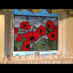 My stained glass poppies will go with me wherever I go!