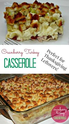 This Thanksgiving Leftovers Casserole is a great way to use up all of those delicious Thanksgiving leftovers in a layered casserole full of comfort food.