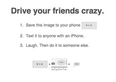 best texting prank ever involves sending people three little dots