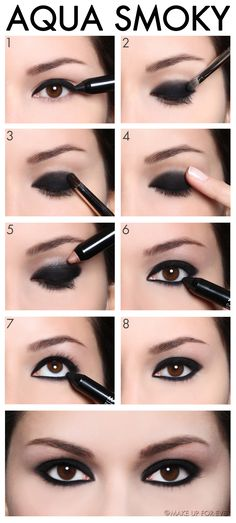 AQUA SHADOW - The Smoky Eye.