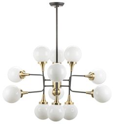 Bayliss Vintage Industrial Pendant Lamp in Antique Brass