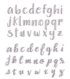 Wrong lowercase calligraphy letters - how to fake calligraphy . - Wrong Lower Case Calligraphy Letters – How To Fake Calligraphy – Simple Tutorial – Wondernote - Fake Calligraphy, Calligraphy Fonts Alphabet, Script Alphabet, Hand Lettering Alphabet, Doodle Lettering, Alphabet Design, Handwriting Fonts, Script Fonts, How To Hand Lettering