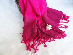 Fuchsia Bamboo Peshtemal Turkish by OttomanBazaars on Etsy