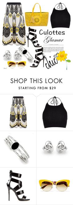 """""""Tricky Trend"""" by hastypudding ❤ liked on Polyvore featuring Temperley London, River Island, Kevin Jewelers, Georgini, Giuseppe Zanotti, Dolce&Gabbana, BUCO, TrickyTrend, fashionset and culottes"""