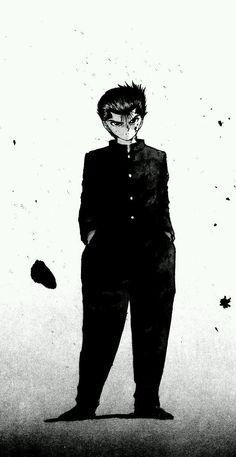 Yusuke Urameshi from Yu Yu Hakusho one of my all time fav protagonist in all of anime Manga Anime, Film Anime, Anime Guys, Anime Art, Manga Drawing, Manga Art, Yu Yu Hakusho Anime, Yoshihiro Togashi, Animation