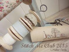 L'Atelier Perdu : Stitch Me Club 2015 'A Bucolic Dream' - Part 1   Sampler mystère à découvrir sur 4 mois - 4-month mystery Sampler   www.atelierperdu.fr Quilt Stitching, Cross Stitching, Quilting, Blog, Crossstitch, Needle And Thread, Couture, Sewing, Scrappy Quilts