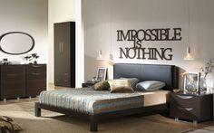 Impossible is nothing! Napis 3D jako motywacja każdego dnia :) Już od 34zł #napis #napis3D #dekoracja #ściana #drewno #laser #shapedesign