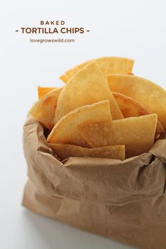 Easy, homemade Baked Tortilla Chips! Perfect for dips, salsa, and guacamole! | LoveGrowsWild.com