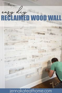 Reclaimed wood wall & a stunning accent wall for any room! Reclaimed wood wall & a stunning accent wall for any room! The post Reclaimed wood wall & a stunning accent wall for any room! Diy Wand, Accent Wall Bedroom, Bedroom Decor, Bedroom Ideas, Pallet Wall Bedroom, Ship Lap Accent Wall, Master Bedroom Wood Wall, Living Room Wallpaper Accent Wall, Accent Wall In Kitchen