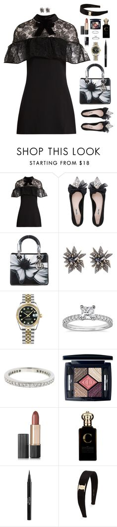 """They call her a monster."" by xoxomuty on Polyvore featuring self-portrait, Miu Miu, Christian Dior, Alexis Bittar, Rolex, Blue Nile, Tiffany & Co., Estée Lauder, Clive Christian and Stila"