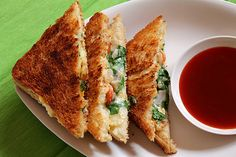 Mashed Potatoes Sandwich with Spinach