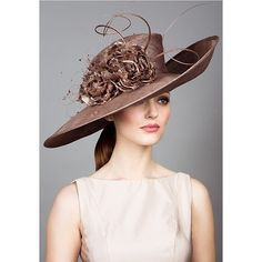 Royal Milliner Rachel Trevor-Morgan - beautiful couture Hats ❤ liked on Polyvore featuring hats and fascinator