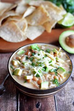 Crock Pot White Bean Chili. This creamy white chili is absolutely delicious and easy to make in the slow cooker.