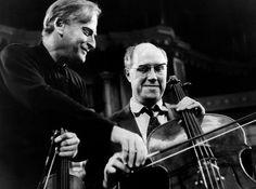 Yehudi Menuhin and Mstislav Rostropovich.