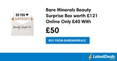 Bare Minerals Beauty Surprise Box worth £121 Online Only, £40 With Code at Bareminerals