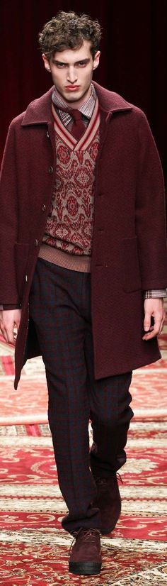 Missoni  Menswear  Fall | Men's Fashion & Style | Business Casual | Moda Masculina | Shop at designerclothingfans.com