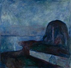Starry Night - Edvard Munch   Norwegian, 1893