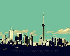 Toronto!  This fab print is now for sale in my Etsy shop!  $31
