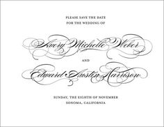 Perfectly Scripted Save the Date Announcements