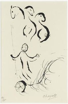 Elijah is taken to heaven - Marc Chagall