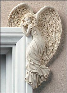 """""""Angel In Your Door Corner"""" -how cute is this!? MUST HAVE for the HOME OF MY DREAMS. Not only spiritually uplifting; but very beautiful! I so want this for my house!!"""