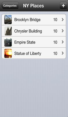 My favourite NY Places stored. Get WahPlaces from iTunes.
