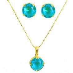 Conjunto Brincos E Colar De Cristal Azul Semi-jóia - Rivera Jóias: http://www.riverajoias.com.br/produto.php?produto=699-conjunto-brincos-e-colar-de-cristal-azul-semi-joia