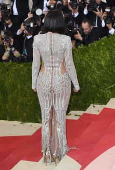 Pin for Later: You Won't Truly Appreciate the Beauty of These Met Gala Gowns Until You See Them From the Back Kylie Jenner In Balmain.