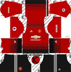 711c2ccf478 Manchester United kits for Dream League Soccer and the package includes  complete with home kits