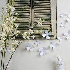 Set di 12 fiori bianchi 3D