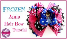 Frozen Hair Bow Tutorial - DIY Anna Hair Bow - Hairbow Supplies, Etc.