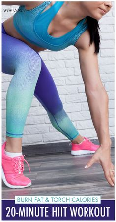 Ready for a killer workout you can do anywhere? All you need is a stopwatch, your body weight and a water bottle to power through this sweat-tastic, 20-minute HIIT workout! Womanista.com