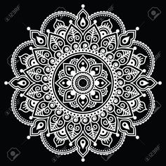 Find Indian Henna tattoo pattern or background - Mehndi design Stock Images in HD and millions of other royalty-free stock photos, illustrations, and vectors in the Shutterstock collection. Mandala Arm Tattoo, Mandala Doodle, Lotus Mandala, Mandala Tattoo Design, Tattoo Foto, Diy Tattoo, Indian Henna, Henna Mehndi, Henna Art
