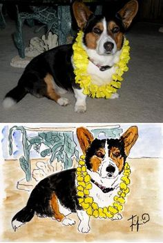 Pet Portrait Special by fififlowers on Etsy, $50.00