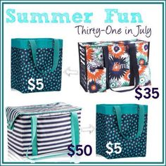 Today's the last day to get the Essentials Storage Tote for just $5 with every $35 spent! Don't miss out on all these great bundles you can get with this special!  www.mythirtyone.com/myshop