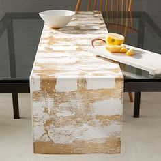 Metallic Abstract Grid Table Runner #westelm