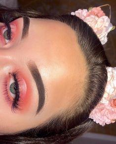 ☼ ☾pinterest | chamapanamami pink glossy eye makeup lashes brows eyebrows tan