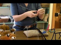 How To Needle Felt Animals - Fox Series 1: Armature by Sarafina Fiber Art.  I am making one of these right now!
