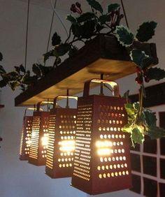Simple Kitchen Utensils Into Light Fixtures
