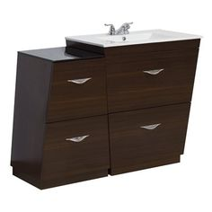 American Imagination AI-12 Vee 43.5-in Modular Bathroom Vanity with Ceramic Top
