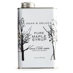 7ef99144840 Dean  amp  Deluca Pure Maple Syrup Typography Design