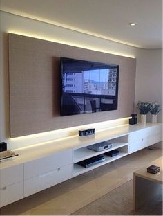Tv Wall Mount Designs for Living Room . Tv Wall Mount Designs for Living Room . 9 Best Tv Wall Mount Ideas for Living Room Living Room Tv, Home And Living, Tv Wall Ideas Living Room, Living Room Modern, Small Living, Tv Wall Design, House Design, Tv Unit Design, Design Case
