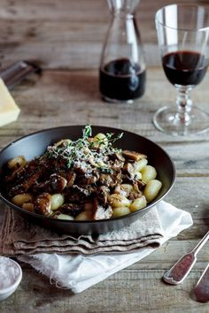 Truffled gnocchi with Mushroom Ragu - I made this recipe and the gnocchi was too much,  save that stuff for the creamed soupsand use linguini instead. But the sauce,  oh the sauce is delicious! !!