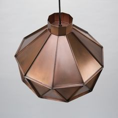 New Triangle pendant in copper from Label51