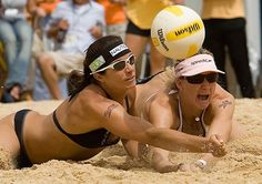 Misty May Trainor and Kerri Walsh Jennings. Olympic volleyball team