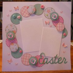 Easter scrapbook page by CraftsbyAnn on Etsy